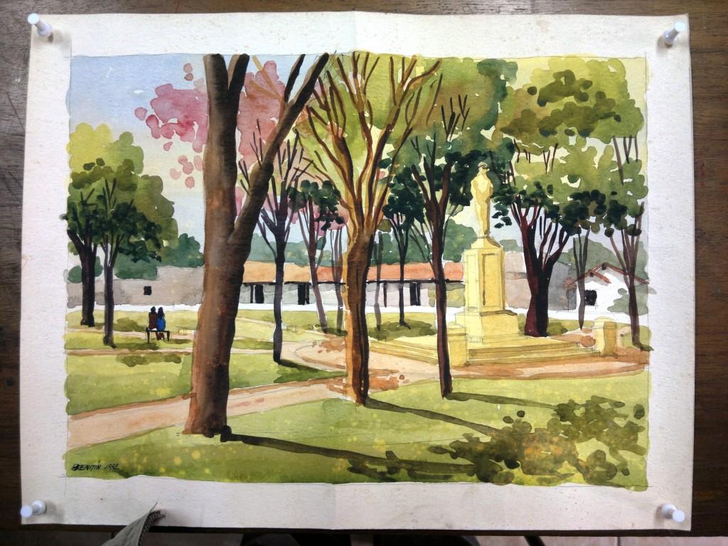 la plaza de san juan bauitista de las misiones-paraguay